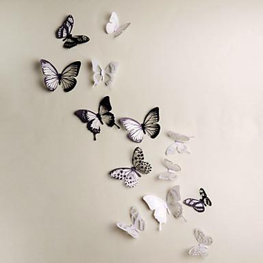 Životinje 3D Zid Naljepnice 3D zidne naljepnice Dekorativne zidne naljepnice, Vinil Početna Dekoracija Zid preslikača Zid