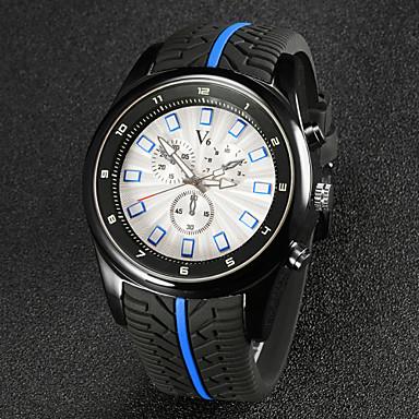 رخيصةأون ساعات الرجال-V6 رجالي ساعة المعصم مراقبة الطيران كوارتز كوارتز ياباني مطاط أسود مماثل أسود أحمر أزرق