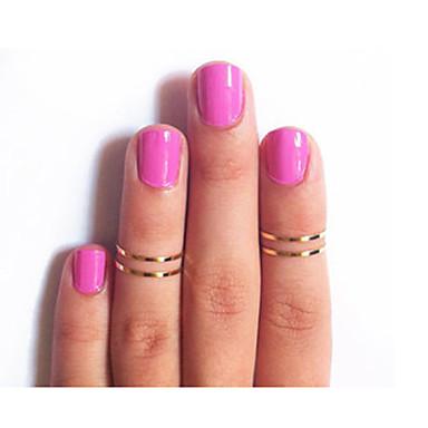 olcso Divat gyűrűk-Női Gyűrű Menj gyűrűk 1db Arany Ezüst Képernyő Szín Ötvözet hölgyek Szokatlan Egyedi Parti Ékszerek Olcsó