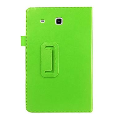 olcso Samsung Tab tokok-Case Kompatibilitás Samsung Galaxy Tab E 9.6 Állvánnyal / Flip Héjtok Egyszínű PU bőr