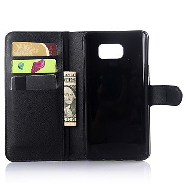 billige Galaxy Note Edge Etuier-DE JI Etui Til Samsung Galaxy Samsung Galaxy Note Pung / Kortholder / Med stativ Ensfarvet for