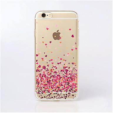 voordelige iPhone 5 hoesjes-hoesje Voor iPhone 5 / Apple iPhone SE / 5s / iPhone 5 Transparant / Patroon Achterkant Hart Zacht TPU