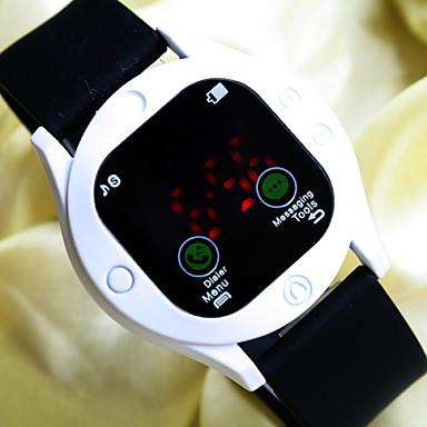 1da29238365 Masculino   Mulheres   Unissex Relógio Esportivo Digital LED   Touchscreen    Relógio Esportivo Silicone Banda Relógio de Pulso Preta de 4248718 2019  por € ...
