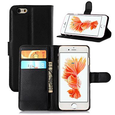 Недорогие Кейсы для iPhone-Кейс для Назначение Apple iPhone 8 Pluss / iPhone 8 / iPhone 7 Plus Кошелек / Бумажник для карт / со стендом Чехол Однотонный Твердый Кожа PU