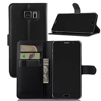 olcso Galaxy Note Edge tokok-Case Kompatibilitás Samsung Galaxy Note 7 / Note 5 / Note 4 Pénztárca / Kártyatartó / Állvánnyal Héjtok Egyszínű PU bőr