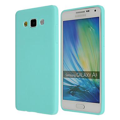Недорогие Чехлы и кейсы для Galaxy A7-Кейс для Назначение SSamsung Galaxy A8 / A7 / A5 Ультратонкий Кейс на заднюю панель Однотонный ТПУ