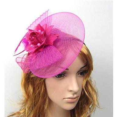 ieftine Bijuterii de Păr-Pentru femei Cordeluțe Fascinators Pentru Nuntă Petrecere Dantelă Mov Rosu Alb