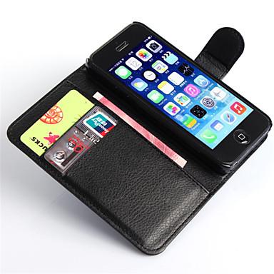 voordelige iPhone-hoesjes-hoesje Voor Apple iPhone 8 Plus / iPhone 8 / iPhone 7 Plus Portemonnee / Kaarthouder / met standaard Volledig hoesje Effen Hard PU-nahka