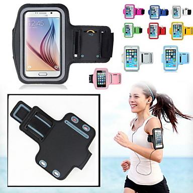 voordelige Galaxy Note-serie hoesjes / covers-hoesje Voor Universeel S5 / S4 / Note 4 met venster / Armband Armband Effen Zacht tekstiili