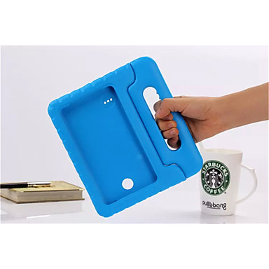 cheap Samsung Tab Series Cases / Covers-Case For Tab S 8.4 / Samsung Galaxy / Tab A 8.0 Tab 4 8.0 / Tab 4 7.0 Shockproof / with Stand / Child Safe Full Body Cases Solid Colored Silicone
