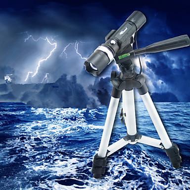 olcso Horgászlámpák-LED zseblámpák LED Kék Alumínium ötvözet Vízálló Újratölthető Sürgősségi Kempingezés / Túrázás / Barlangászat Vadászat Halászat 200-500 m
