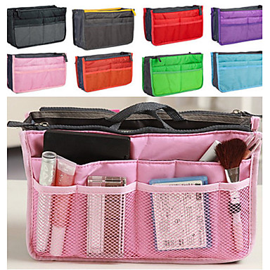 cheap Jewelry & Makeup Storage-Women's Fashion Casual Multifunctional Mesh Cosmetic Makeup Bag Storage Tote Organizer 8 Color