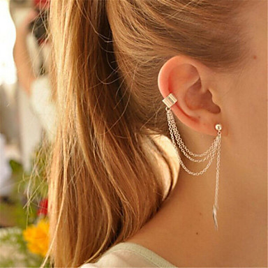 voordelige Oorbellen-Dames Clip oorbellen Helix oorbellen Sierlijk Dames Gepersonaliseerde Tupsu oorbellen Sieraden Wit / Gouden Voor