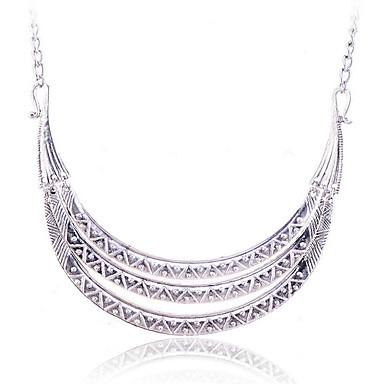 olcso Vallomás nyakláncok-Női Nyilatkozat nyakláncok Ötvözet Ezüst Aranyozott Nyakláncok Ékszerek Kompatibilitás Parti Napi Hétköznapi