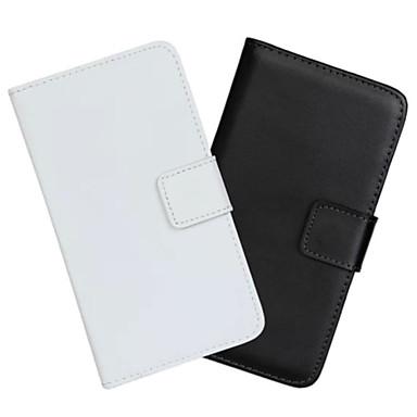 Недорогие Чехлы и кейсы для Galaxy Note Edge-Кейс для Назначение SSamsung Galaxy Note Edge Кошелек / Бумажник для карт / со стендом Чехол Однотонный Кожа PU