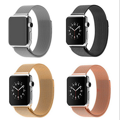 cheap Smartwatch Accessories-Milanese Loop Band for Apple watch 44mm 40mm 42mm 38mm Link Bracelet Strap Stainless Steel Mesh Metal Loop with Adjustable Magnetic Closure Replacement Bands Compatible with Iwatch Series 5 4 3 2 1