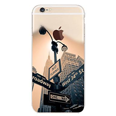 Недорогие Кейсы для iPhone 6 Plus-Кейс для Назначение Apple iPhone 7 Plus / iPhone 7 / iPhone 6s Plus С узором Кейс на заднюю панель Пейзаж / Вид на город Мягкий ТПУ