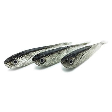10 pcs Δόλωμα Momeală moale shad Jerkbaits moi Bass Păstrăv Ştiucă Pescuit mare Pescuit de Apă Dulce Silicon