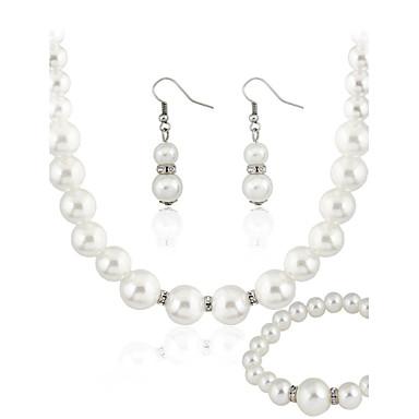 Žene Biseri Komplet nakita dame Biseri Naušnice Jewelry Obala Za Vjenčanje Party Dnevno Kauzalni / Ogrlice / Narukvica