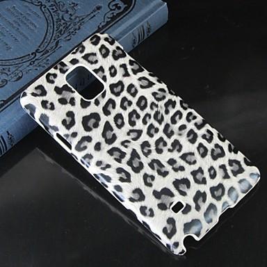 Недорогие Чехлы и кейсы для Galaxy Note 4-Кейс для Назначение SSamsung Galaxy Note 4 С узором Кейс на заднюю панель Леопардовый принт ПК