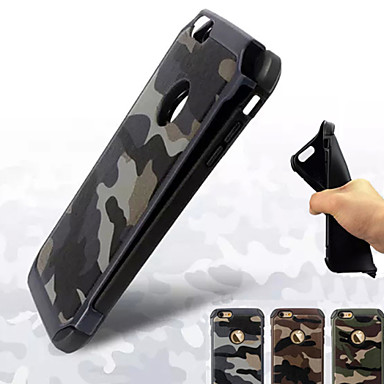 voordelige iPhone 7 Plus hoesjes-hoesje Voor Apple iPhone 8 Plus / iPhone 8 / iPhone 7 Plus Schokbestendig Achterkant Effen / Camouflage Kleur Hard PC