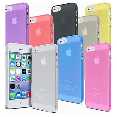 voordelige iPhone-hoesjes-hoesje Voor iPhone 5 / Apple / iPhone X iPhone X / iPhone 8 Plus / iPhone 8 Transparant Achterkant Effen Hard PC