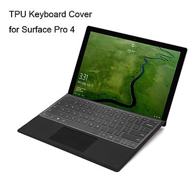 olcso Tartozékok-xskn ultravékony átlátszó TPU billentyűzet bőr áttetsző billentyűzet bőr számára a Microsoft Surface Pro 4, nekünk elrendezés