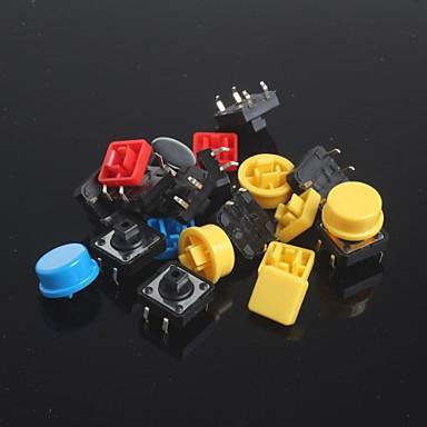 olcso Kapcsolók-10db kulcs tapintat kapcsolók szett + kulcs sapka Arduino