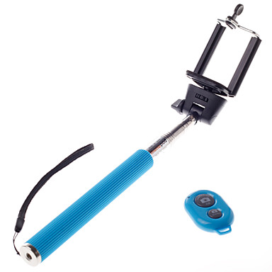 voordelige Bluetooth selfiestick-draadloze bluetooth zelfportret monopod verstelbare stok pole voor iPhone andriod mobie telefoons met afstandsbediening