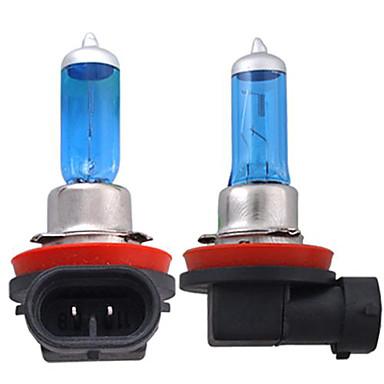 Недорогие Автомобильные фары-2pcs H11 Автомобиль Лампы 55W 1300lm Галогенная лампа Налобный фонарь