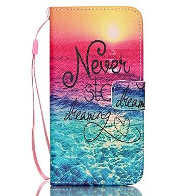 رخيصةأون حافظات / جرابات هواتف جالكسي S-غطاء من أجل Samsung Galaxy S6 edge plus / S6 edge / S6 محفظة / حامل البطاقات / مع حامل غطاء كامل للجسم جملة / كلمة جلد PU