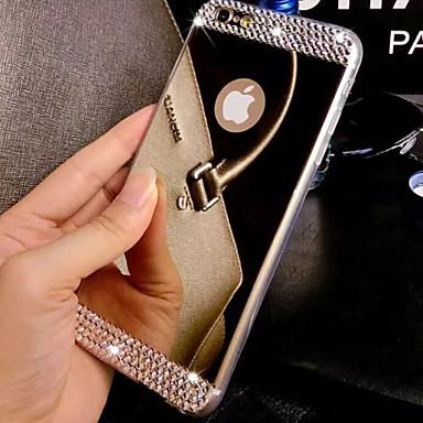 Недорогие Кейсы для iPhone 6 Plus-Кейс для Назначение Apple iPhone 8 Pluss / iPhone 8 / iPhone 7 Plus Стразы / Покрытие / Зеркальная поверхность Кейс на заднюю панель Однотонный Твердый Акрил
