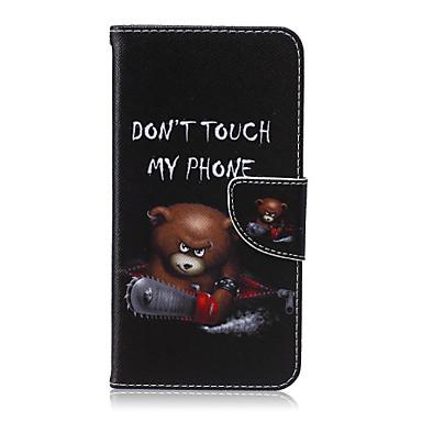voordelige Galaxy S-serie hoesjes / covers-hoesje Voor Samsung Galaxy S6 edge plus / S6 edge / S6 Portemonnee / Kaarthouder / met standaard Volledig hoesje Cartoon PU-nahka