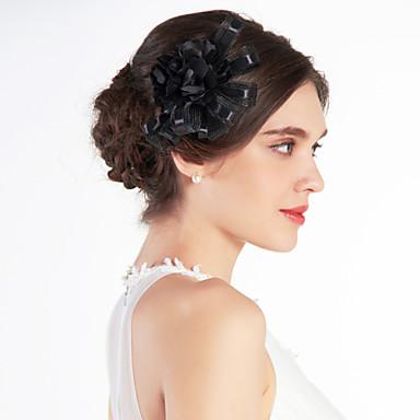 frumos tul nunta mireasa negru floare / corsaj / caciula
