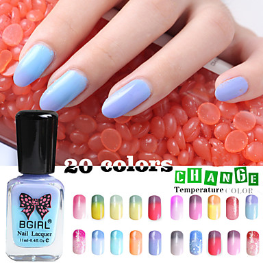 4pcs New B Water Temperature Change Color Eco Friendly Non Toxic Nail Polish 20 Colors 11ml Random 4521600 2018 8 99