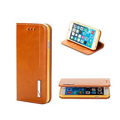 Θήκη Za iPhone 5 / Apple iPhone 8 Plus / iPhone 8 / iPhone SE / 5s Novčanik / Utor za kartice / sa stalkom Korice Jednobojni Tvrdo prava koža