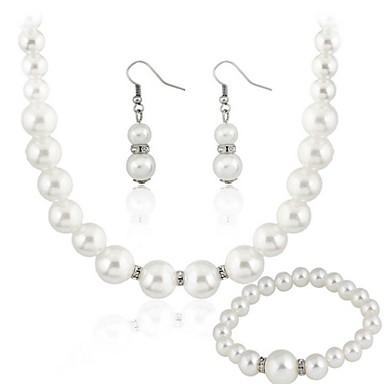 Pentru femei Transparent Seturi de bijuterii cercei Bijuterii Alb Pentru Petrecere Cadou Petrecere Nuntă / Cercei / Coliere
