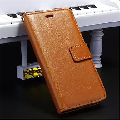 Недорогие Кейсы для iPhone-Кейс для Назначение iPhone 5 / Apple iPhone 8 Pluss / iPhone 8 / iPhone SE / 5s Кошелек / Бумажник для карт / со стендом Чехол Однотонный Твердый Кожа PU