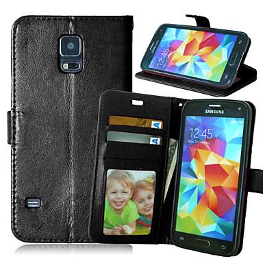 voordelige Galaxy S-serie hoesjes / covers-hoesje Voor Samsung Galaxy S6 edge plus / S6 edge / S6 Portemonnee / Kaarthouder / met standaard Volledig hoesje Effen PU-nahka