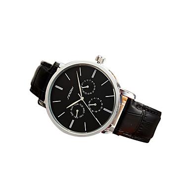 Недорогие Часы на кожаном ремешке-SINOBI Муж. Повседневные часы Авиационные часы Наручные часы Кожа Черный