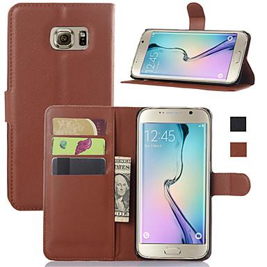 povoljno Samsung oprema-Θήκη Za Samsung Galaxy S6 edge plus / S6 edge / S6 Novčanik / Utor za kartice / sa stalkom Korice Jednobojni PU koža