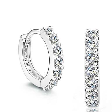 رخيصةأون أقراط-الماس الاصطناعي أقراط الزر حلقات هوجي سيدات موضة فضة الاسترليني كريستال تقليد الماس الأقراط مجوهرات فضي من أجل