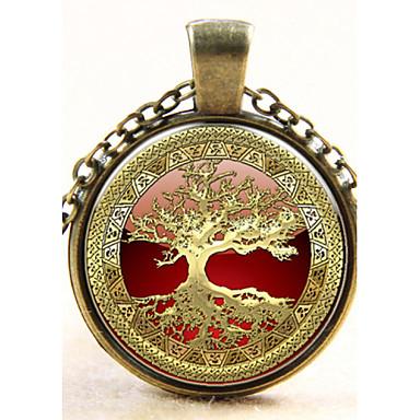 Недорогие Ожерелья-Кулоны Мода Стерлинговое серебро Медь Серебряный Бронзовый Ожерелье Бижутерия Назначение Свадьба Для вечеринок Повседневные