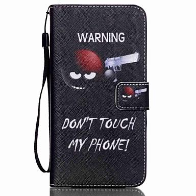 Недорогие Чехлы и кейсы для Galaxy S3 Mini-Кейс для Назначение SSamsung Galaxy S6 edge plus / S6 edge / S6 Кошелек / Бумажник для карт / со стендом Чехол Слова / выражения Кожа PU