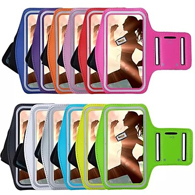 voordelige iPhone-hoesjes-hoesje Voor iPhone 6s Plus / iPhone 6 Plus / iPhone 6s met venster / Armband Armband Effen Zacht tekstiili