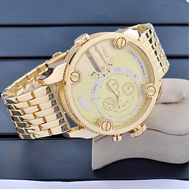 Pánské Náramkové hodinky mechanické hodinky Automatické natahování Hodinky  s dvojitým časem Nerez Kapela Zlatá Zlatá 4536654 2019 – €25.99 99ad45cb339