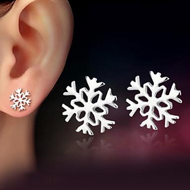 olcso Ezüst ékszerek-Női Beszúrós fülbevalók Hópehely hölgyek Klasszikus Ezüst Fülbevaló Ékszerek Ezüst Kompatibilitás Esküvő Parti Napi