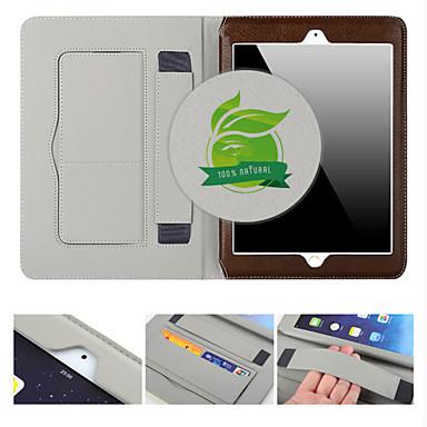 Maska Pentru Apple iPad Air 2 Titluar Card / Cu Stand / Auto Sleep / Wake Carcasă Telefon Mată Piele autentică