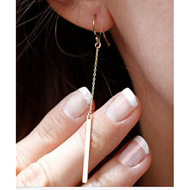 ieftine Cercei-Pentru femei Cercei Picătură Măr Ieftin femei Simplu stil minimalist Modă Elegant Placat Auriu cercei Bijuterii Auriu / Argintiu Pentru Petrecere Zilnic Casual
