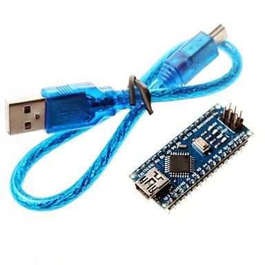 nano 3.0 Atmel atmega328p mini-usb board w / usb-kaapeli Arduino